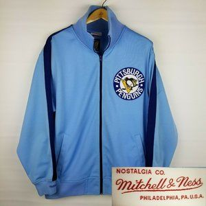 Mitchell Ness Mens Pittsburgh Penguins Track Jacke